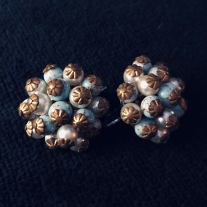 Vintage earrings costume jewelry clip ons